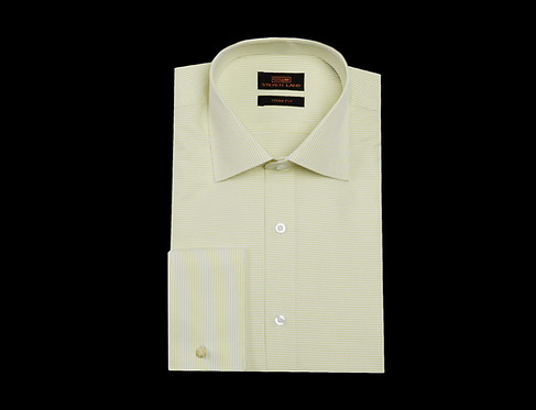 TA1720 Dress Shirt | Wide SpreadCollar | French Square Cuff | Color Lime Yellow