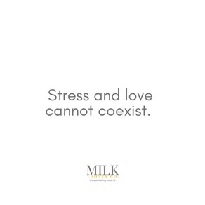 stress and love cannot coexist