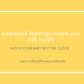 scheduled feedings will lower your milk supply