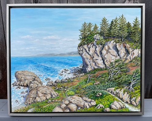 """Northern California Patrick's Point Trails, 17x21"""" original oil painting"""