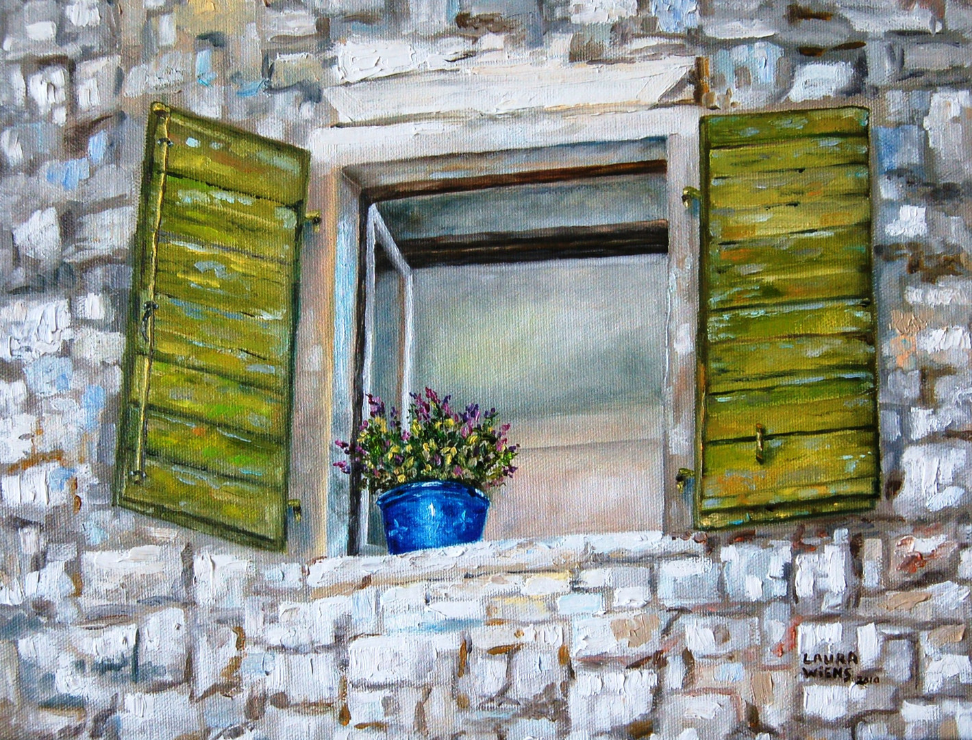 """Green Shutters and Sage"""