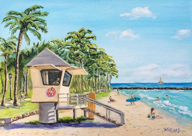 """""""On Watch at Waikiki Beach"""""""