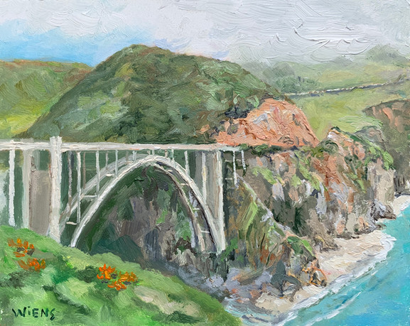 """Bixby Bridge"" 4x5"" oil on gessobord"