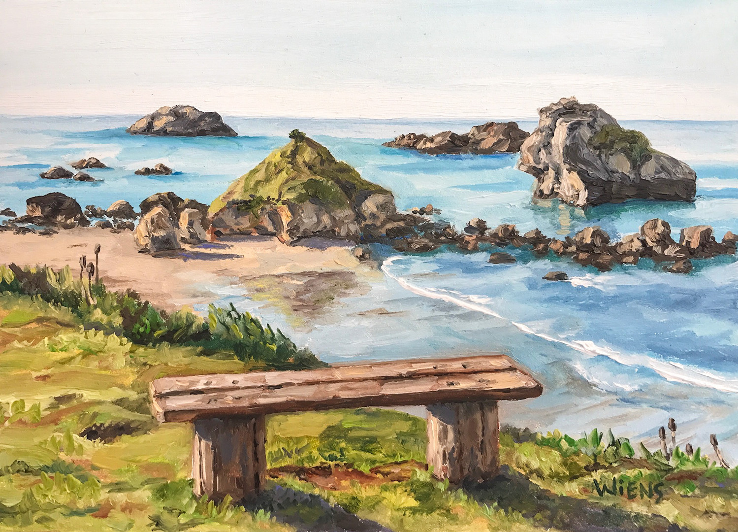 """Pebble Beach Bench"""