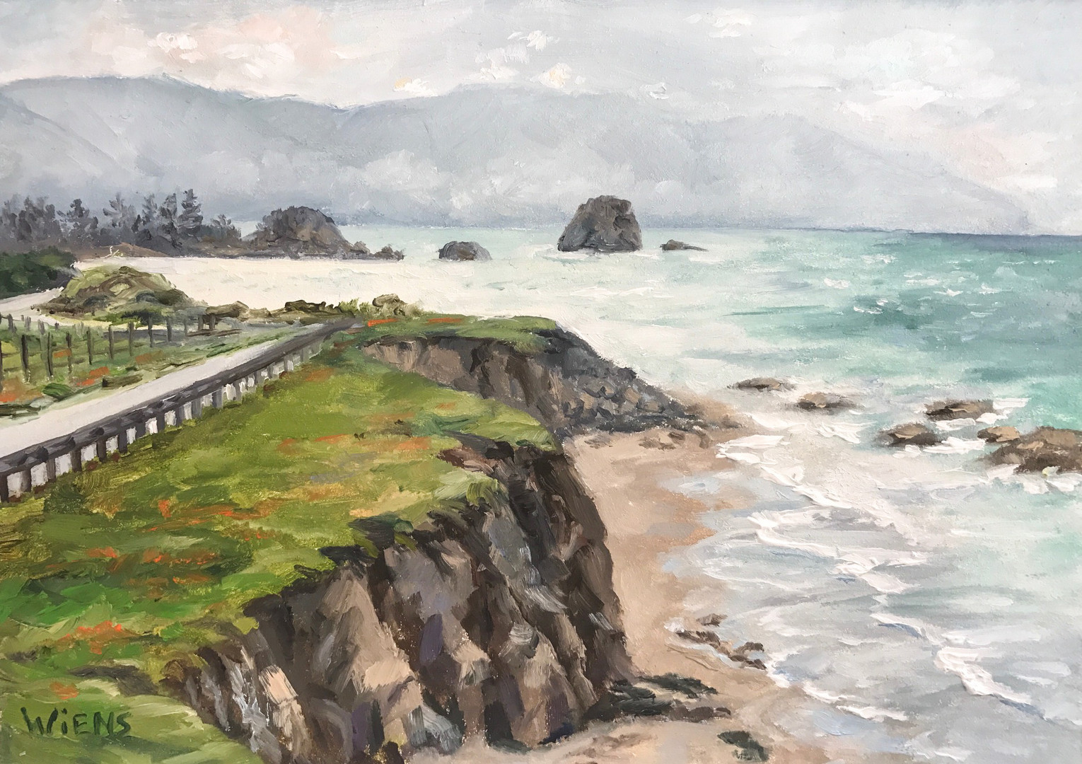 """Drive Along Pebble Beach"""