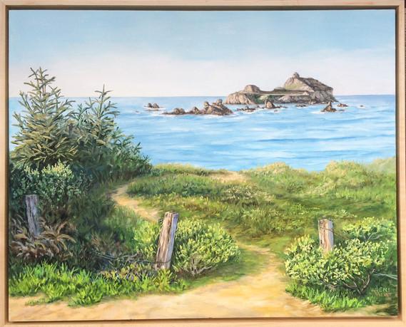 """Morning Light on Castle Rock"""