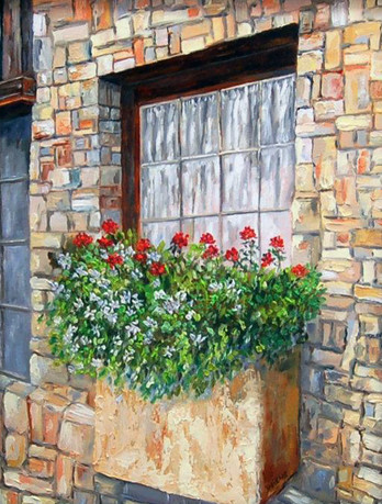 """""""Geraniums and Daisies"""""""