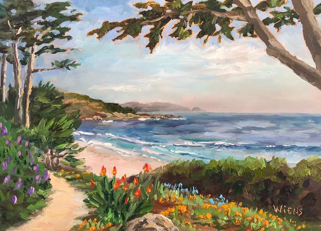 """""""Carmel Beach"""" 5x7"""" oil on gessobord"""