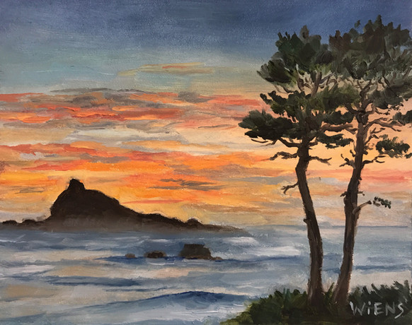"""""""Sunset Sky Over Castle Rock"""""""