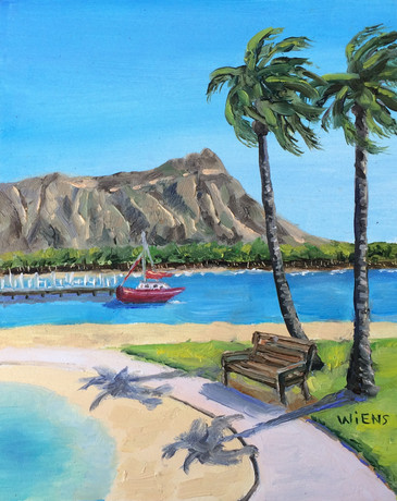 """""""Bench by the Lagoon"""""""