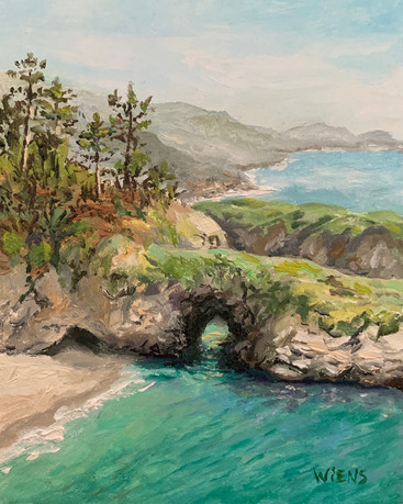 """""""China Cove"""" 5x4"""" oil on gessobord"""