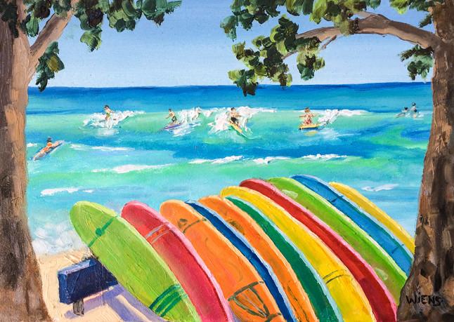 """Surfboard Rainbow"""