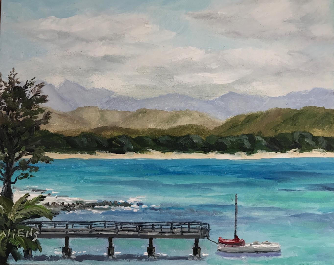 """Docked in Waimanalo Bay"""
