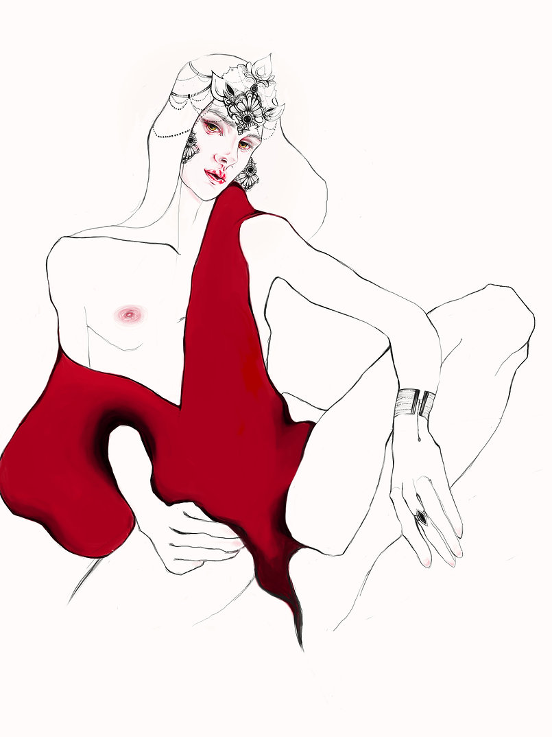 illustration, maria klimko, lover, london