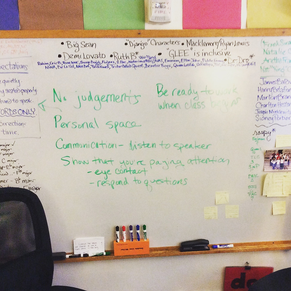 Classroom takeover: Students create their own rules of interaction for the class