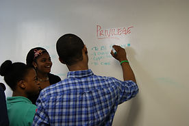 Diversity workshop participants engage in creative game play to explore power dynamics