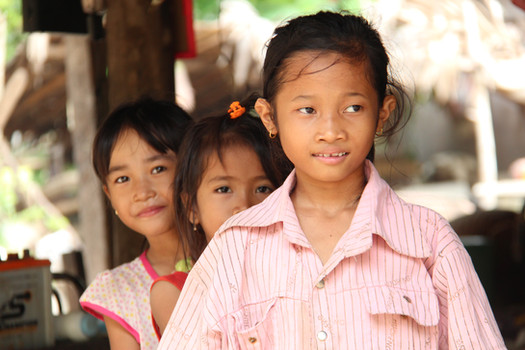 The community reconciliation programme has given hope to the next generation of Cambodians, such as these young relatives of Lay, the former Khmer Rouge soldier.