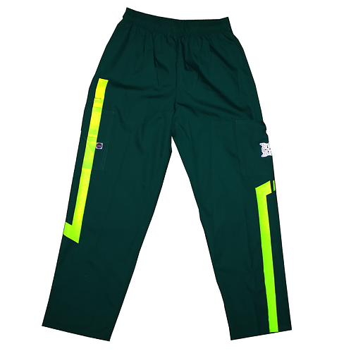 Straight fit Custom Cargos (Green. Neon Yellow)