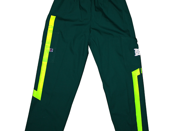 Straight fit Custom Cargos (Green. Neon Yellow)