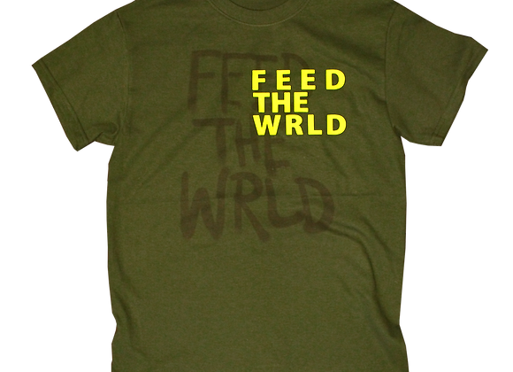 Feed the World T-shirt (Forrest Green)