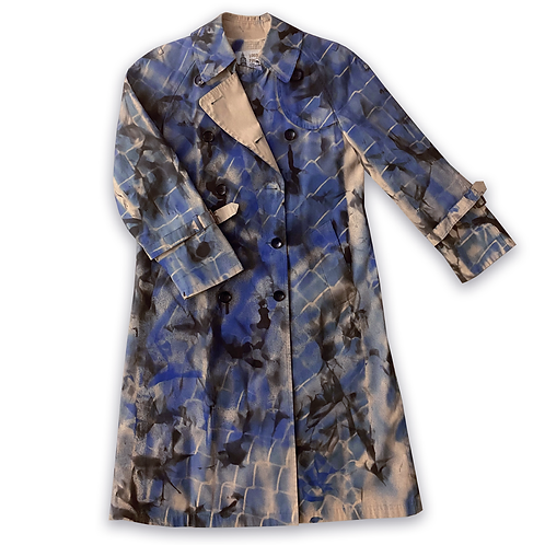 Camo Fence Trench Coat