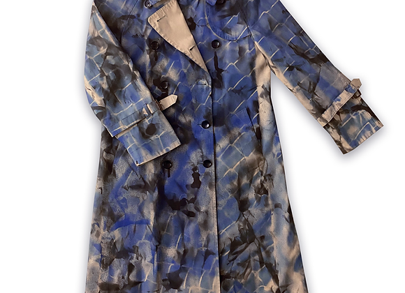 Camo Fence Trench Coat