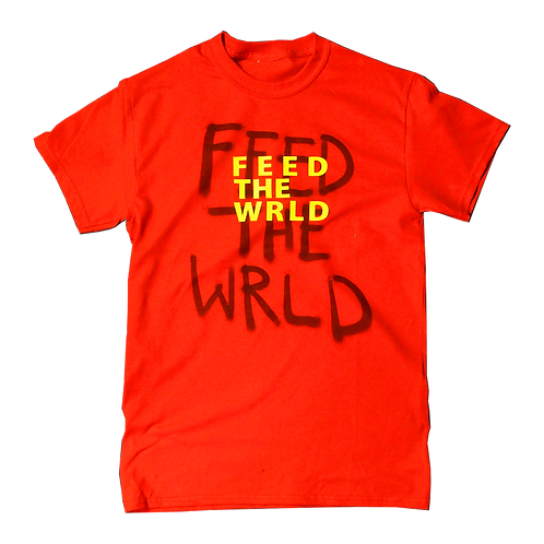 Feed the World T-shirt  (Fire Red)