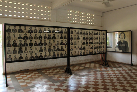 The prison authorities at S-21 took a picture of each prisoner, leaving a haunting record of many of their victims.