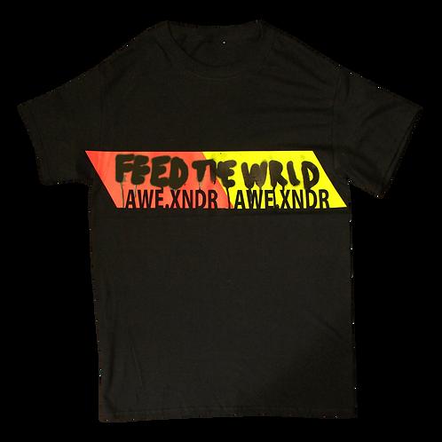 Feed the World T-shirt (Neon Black)