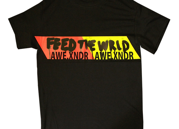 Feed the World T-shirt (Neon Black)