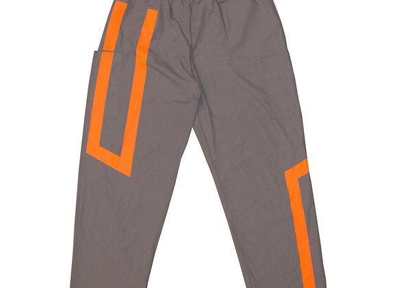 Straight Fit custom Cargos (Grey. Orange)