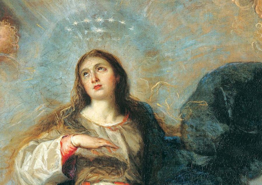 """""""The Assumption Of The Virgin"""", Juan Carreño de Miranda, 1657. Óleo sob tela, 18cm x 24cm"""