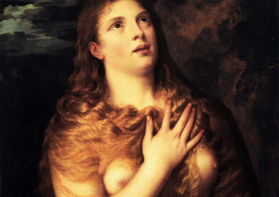 """Sainte Madeleine"", Tiziano Vecellio, 1530. Óleo sob tela, 87cm x 64 cm"