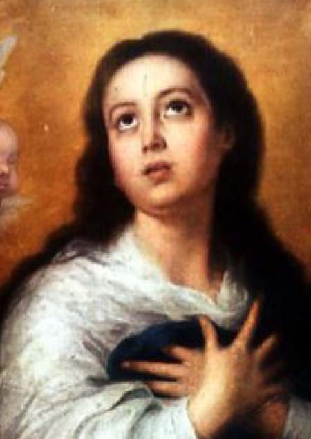 """La Inmaculada"", Bartolomé Esteban Murillo, 1678. Óleo sob tela, 274cm x 190cm"