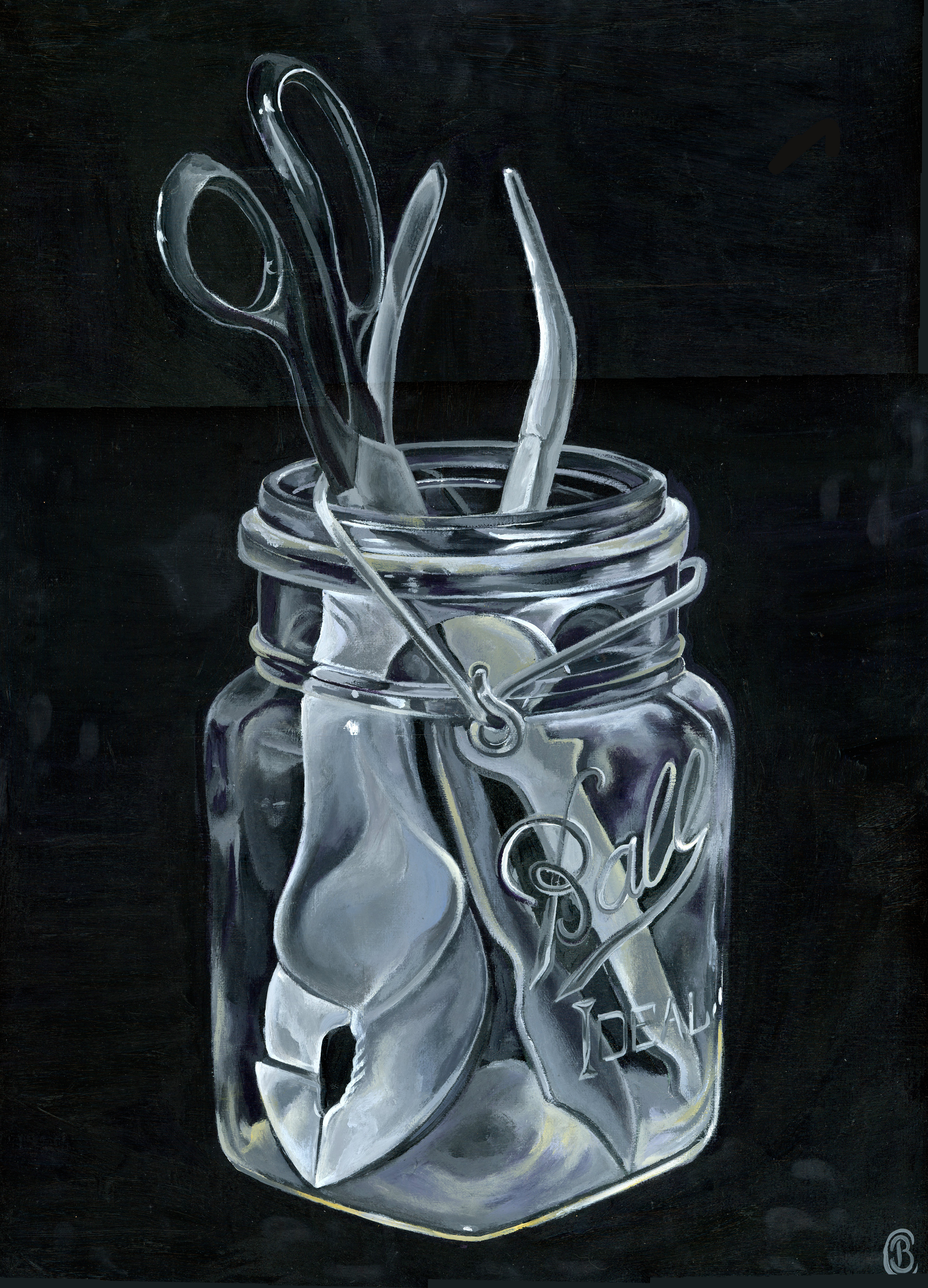 Mason Jar with Tools