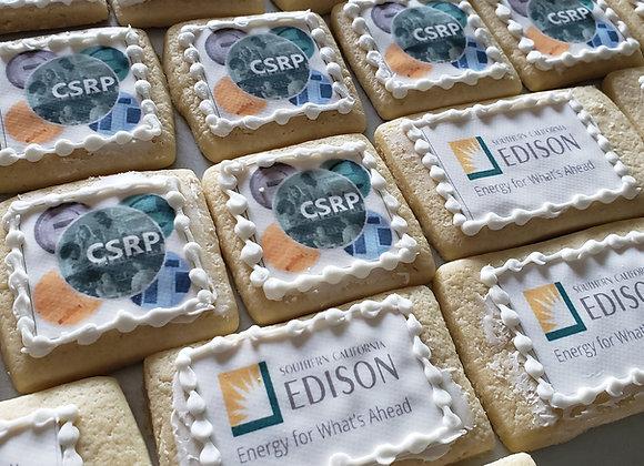 Custom Edible Logo Cookies