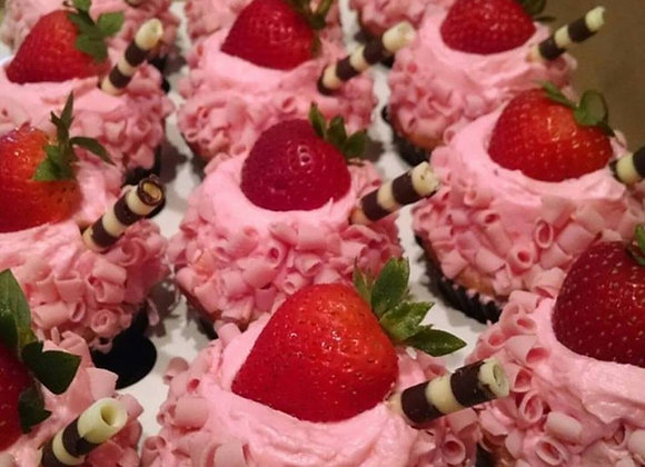 """Strawberry Fields Forever"" Cupcakes"