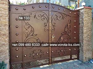 Металлические кованые ворота распашгого типа