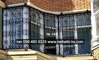 Сварная металлическая решетка на балкон