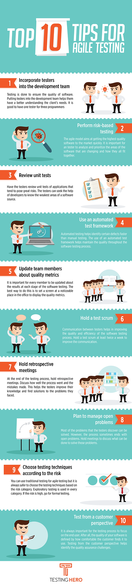 Top 10 Tips For Agile Testing By Testing Hero