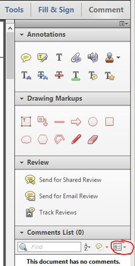 PDF Markup