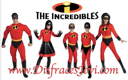 disfraces de los increibles para la familia