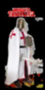Disfraz Templario en Valparaíso