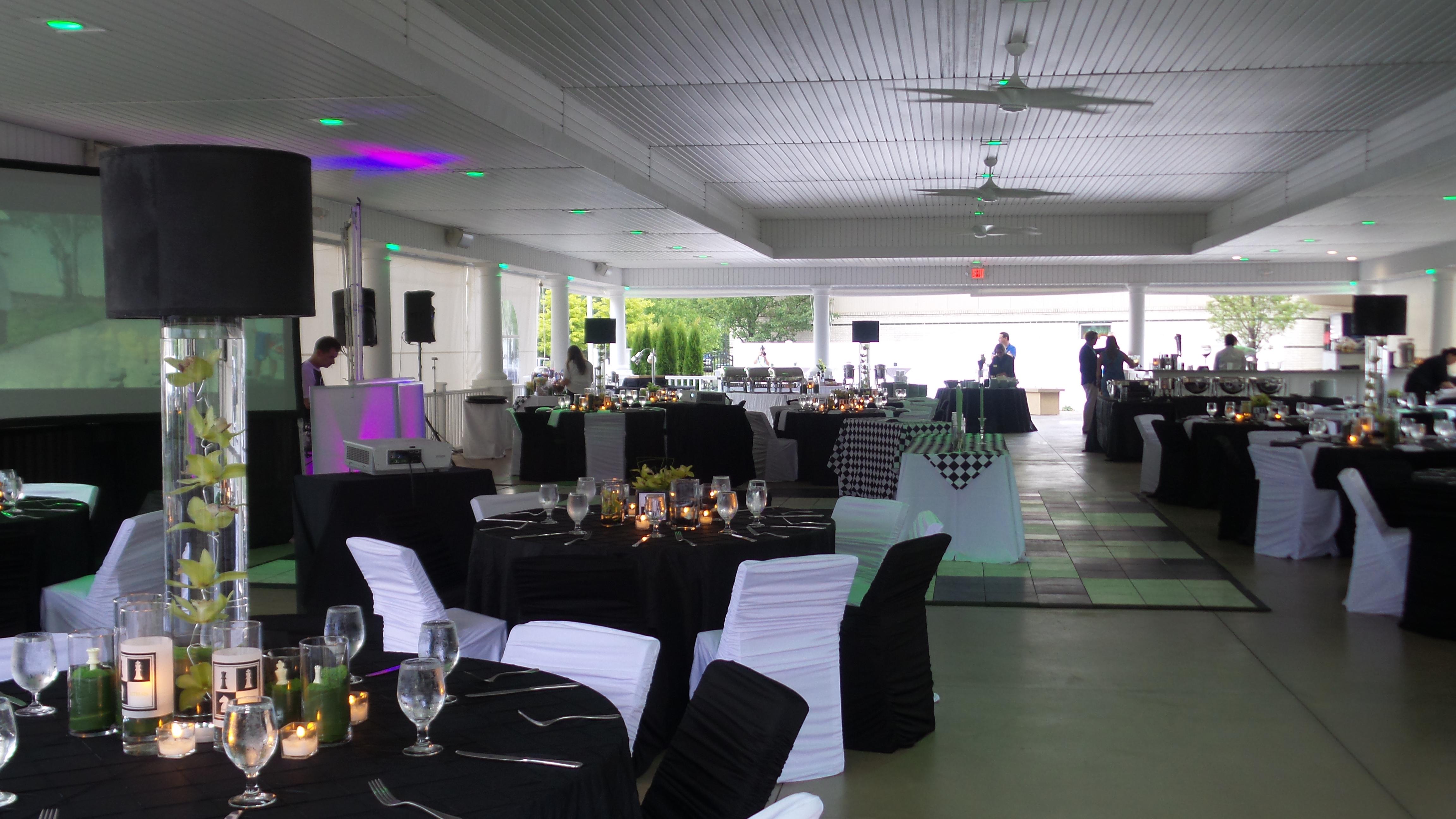 fancy pavilion set up