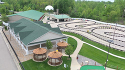aerial view go karts