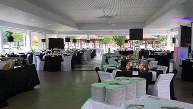 Fancy wedding receptio set up