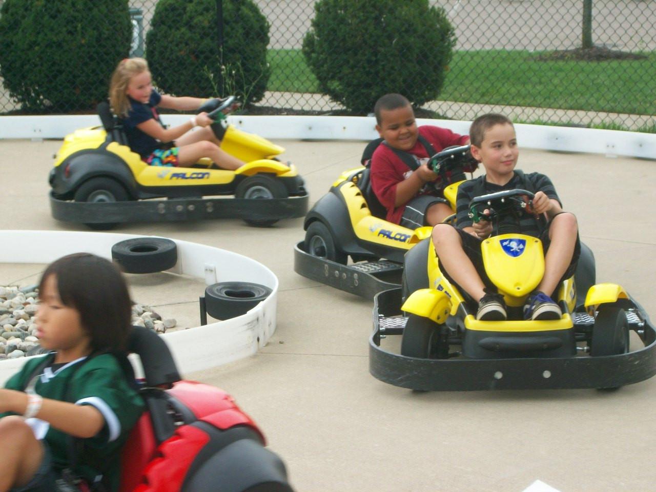 field trip kids on kiddie karts