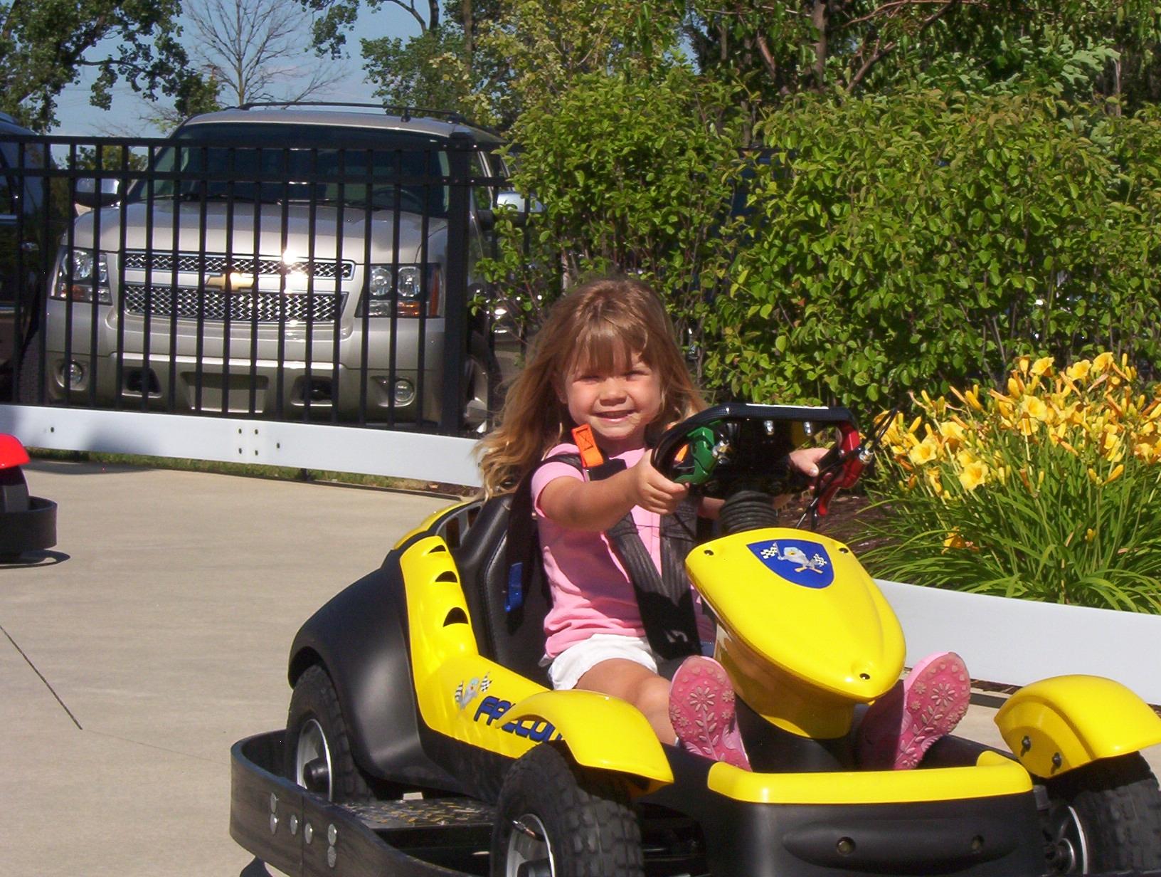 Kiddie Track, smiling girl, cute