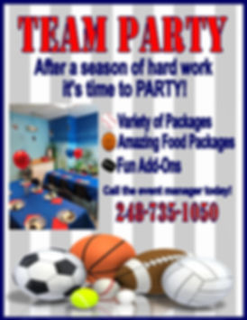 Team Party Flyer