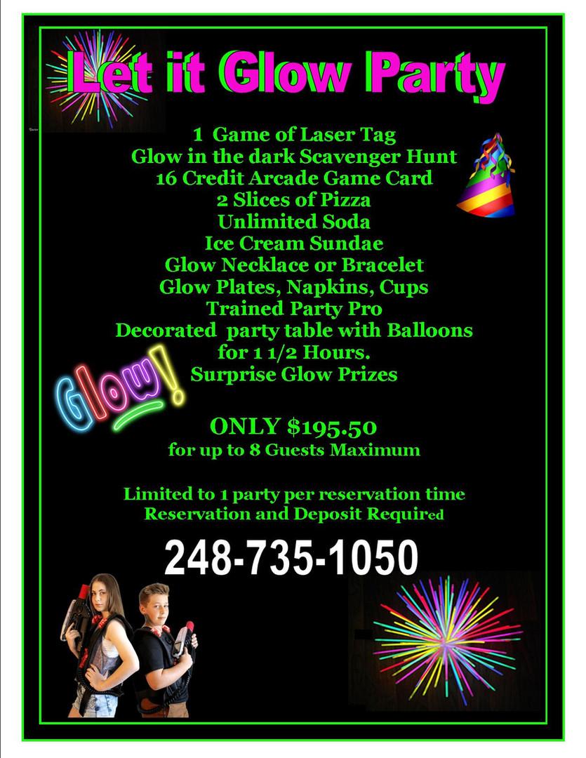 Paraidse Park Glow Party Flyer
